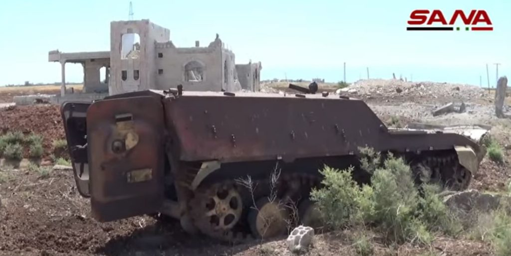 In Video: Destroyed Equipment Of Militants In Tell Meleh Liberated By Syrian Army