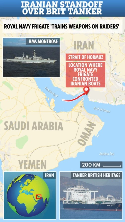 U.K. Claims Iran's Revolutionary Guards Tried To Stop British Tanker In Persian Gulf