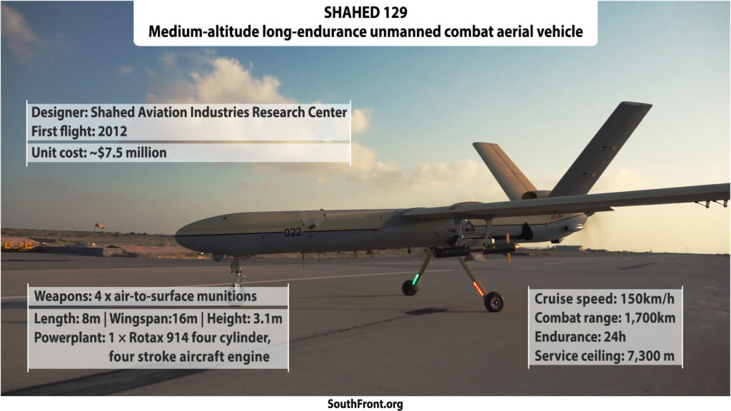 Iran's Shahed 129 Unmanned Combat Aerial Vehicle (Infographics)