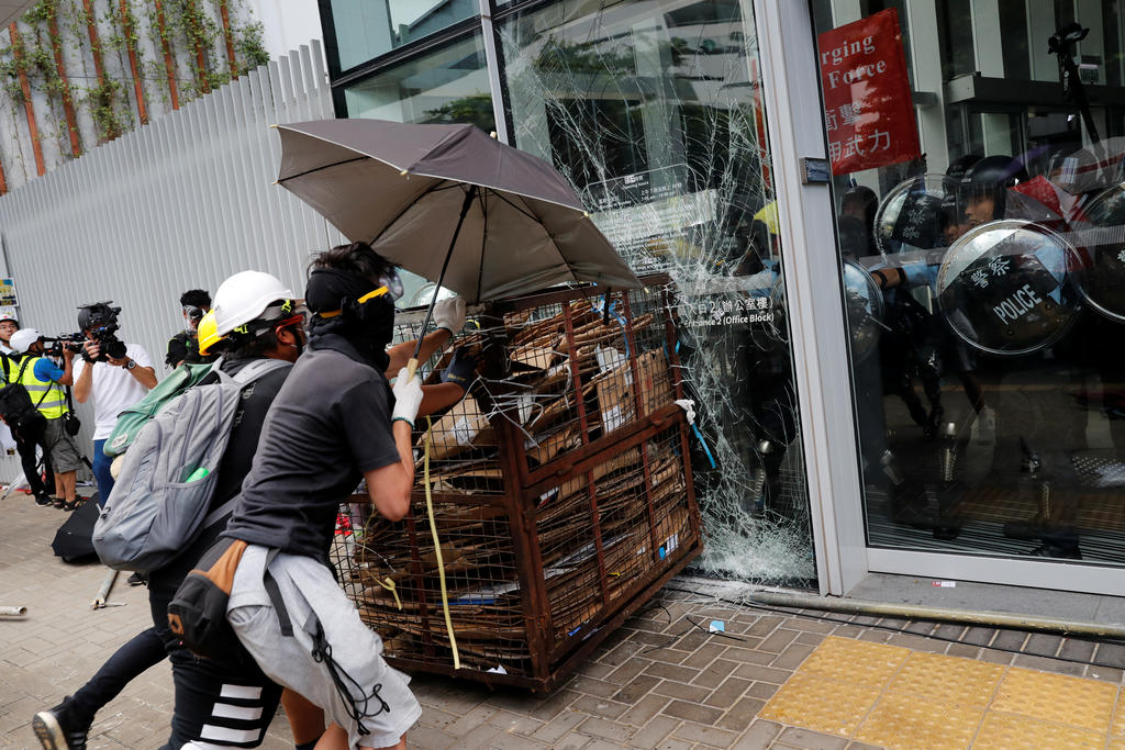 Large-Scale Protests In Hong Kong: Legislative Council Building Is Under Attack