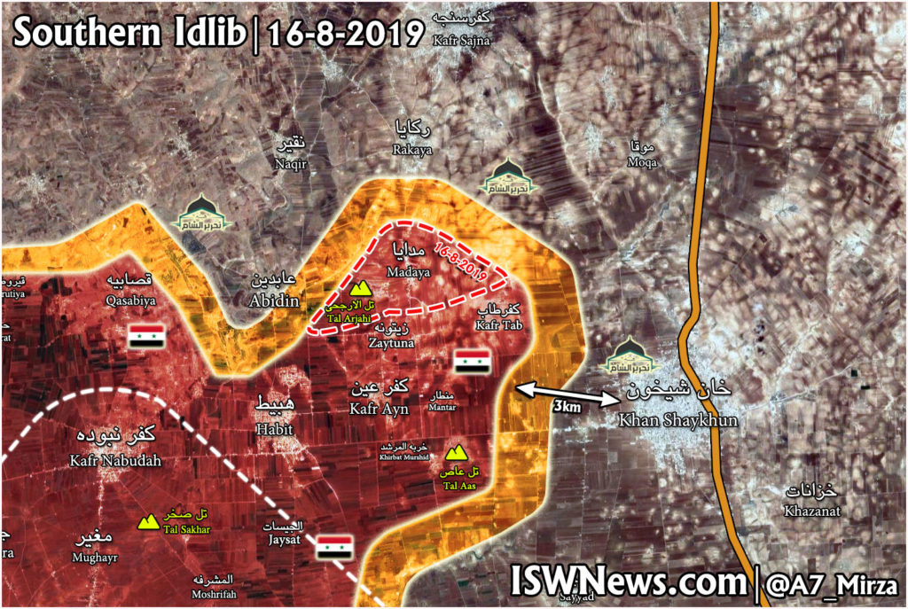 In Maps: Syrian Army Pushes Further To Isolate Khan Shaykhun From Southern Direction
