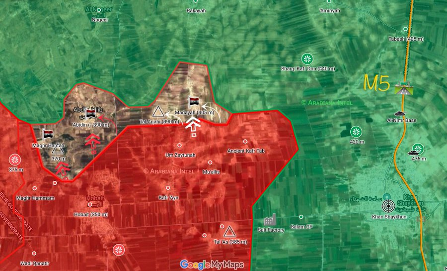Map Update: Recent Gains Of Syrian Army In Southern Idlib
