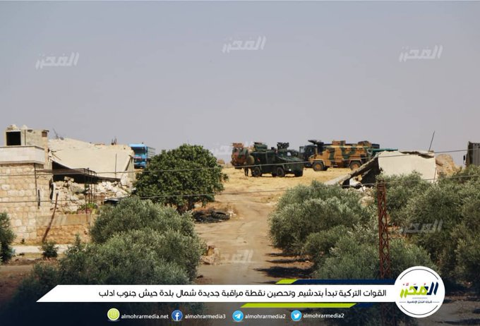 Turkish Military Setting Up 'Observation Post' North Of Khan Shaykhun (Video, Photo)