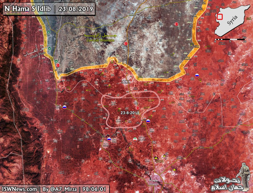 Map Update: Government Troops Fully Liberated Northern Hama Pocket