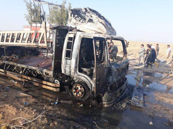 Supposed Israeli Strike Targets Convoy Of Popular Mobilization Units In Iraq (Photos)