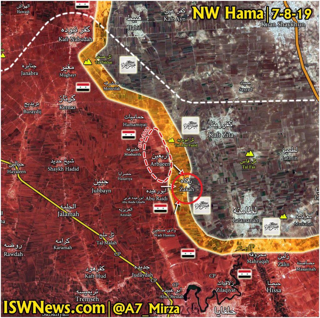 Syrian Army Breaks Militants' Defense In New Push In Northwestern Hama (Map)