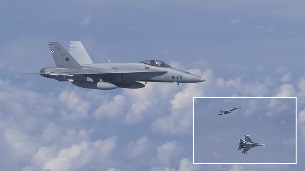Video: NATO F-18 Shadowed Russian Defense Minister's Plane Over Baltic Sea