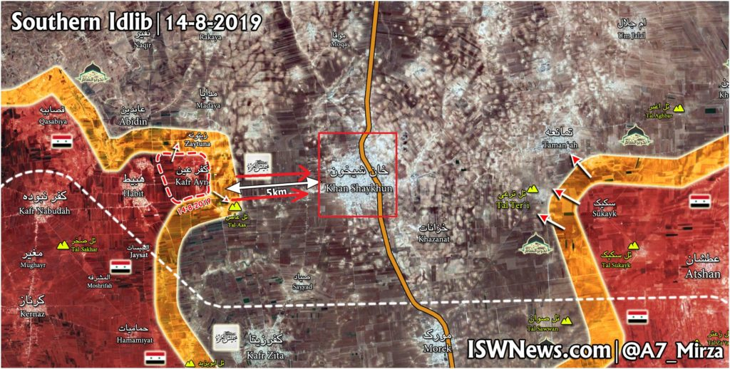 Government Forces Liberated 4 Villages Amid Push Towards Khan Shaykun