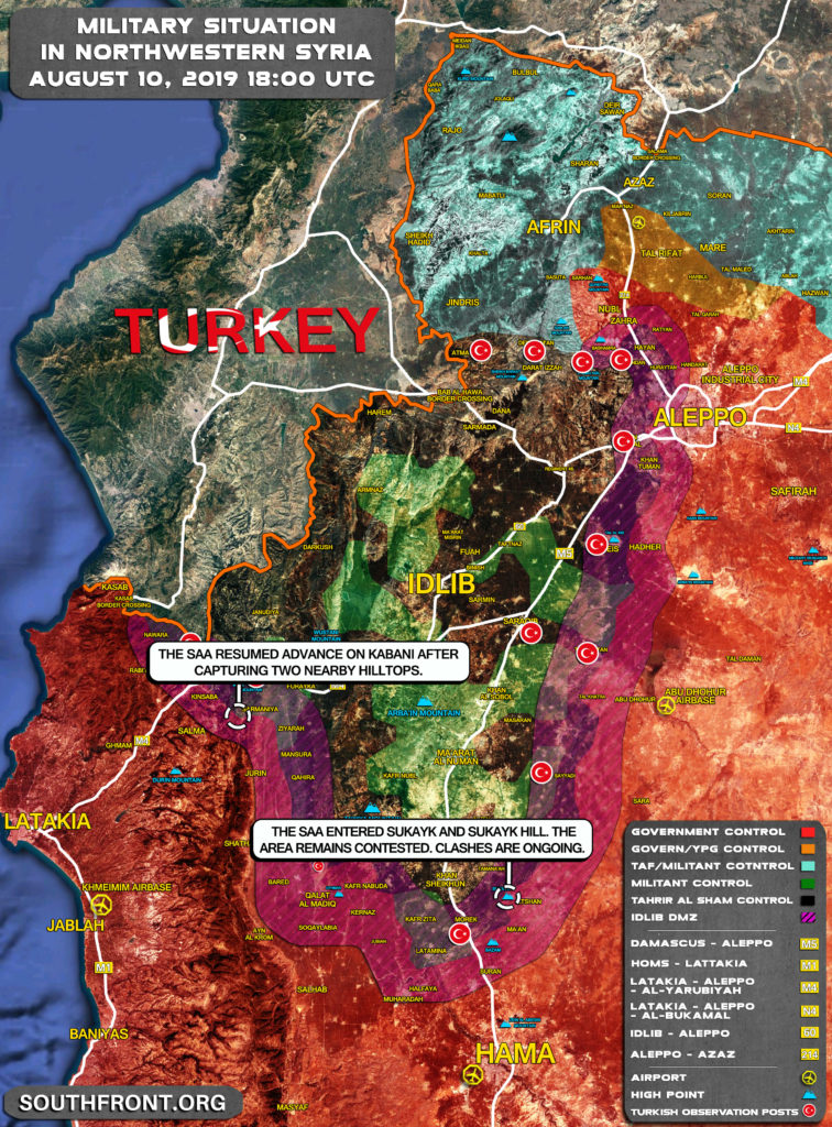 Map Update: Fierce Clashes Ongoing In Sukayk Area In Southern Idlib