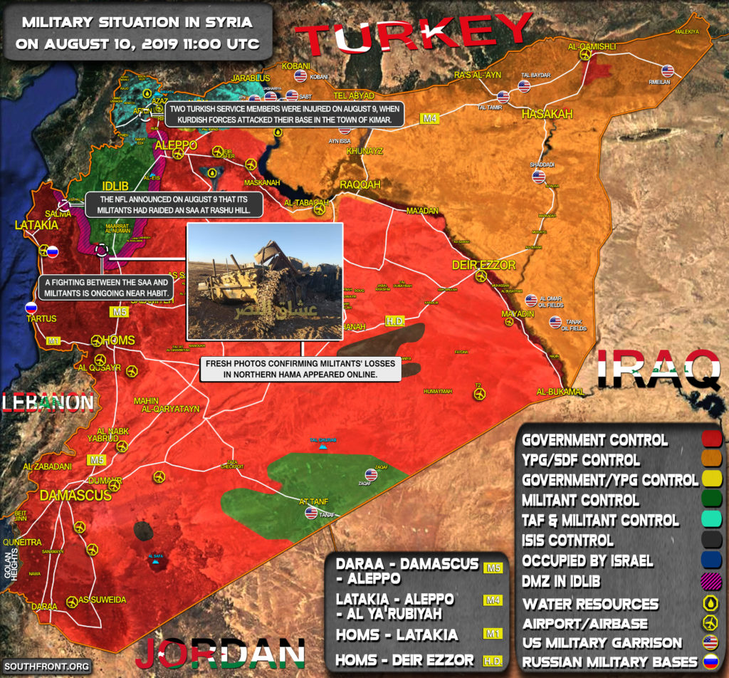 Military Situation In Syria On August 10, 2019 (Map Update)