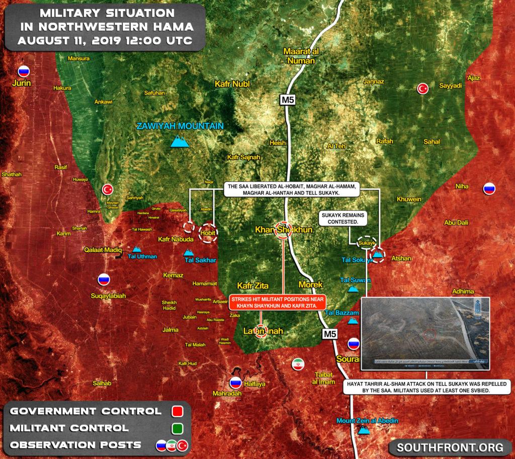 Map Update: Syrian Army's Progress In Northwestern Hama, Southern Idlib