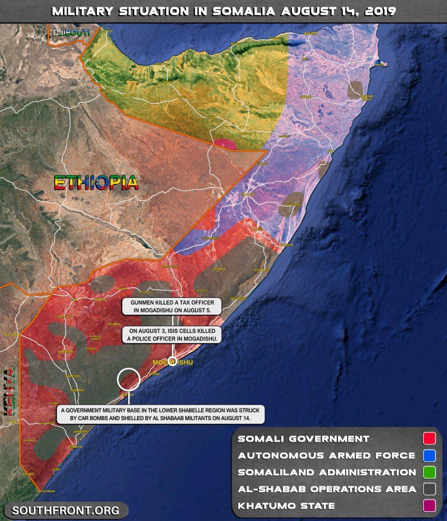 Al-Shabaab Car Bombs Hit Military Base In Southern Somalia