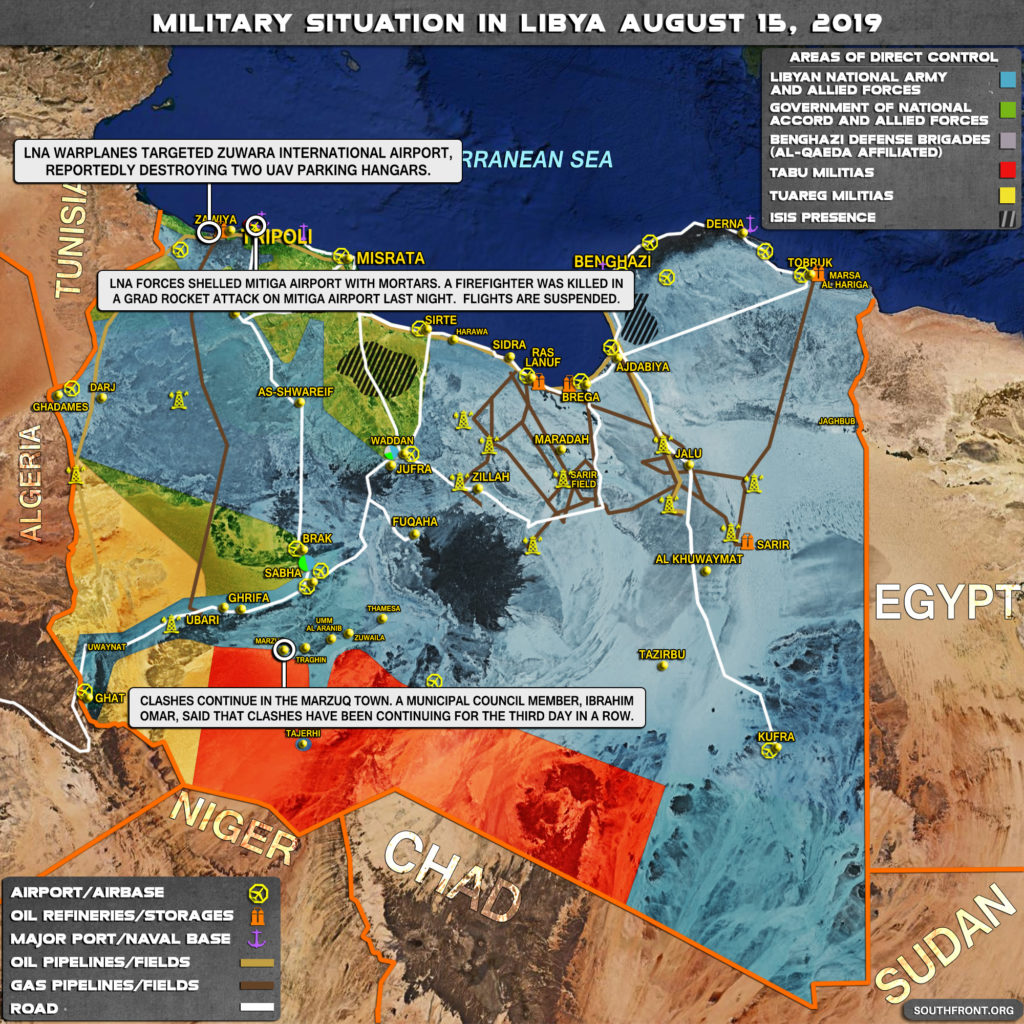 Military Situation In Libya On August 15, 2019 (Map Update)