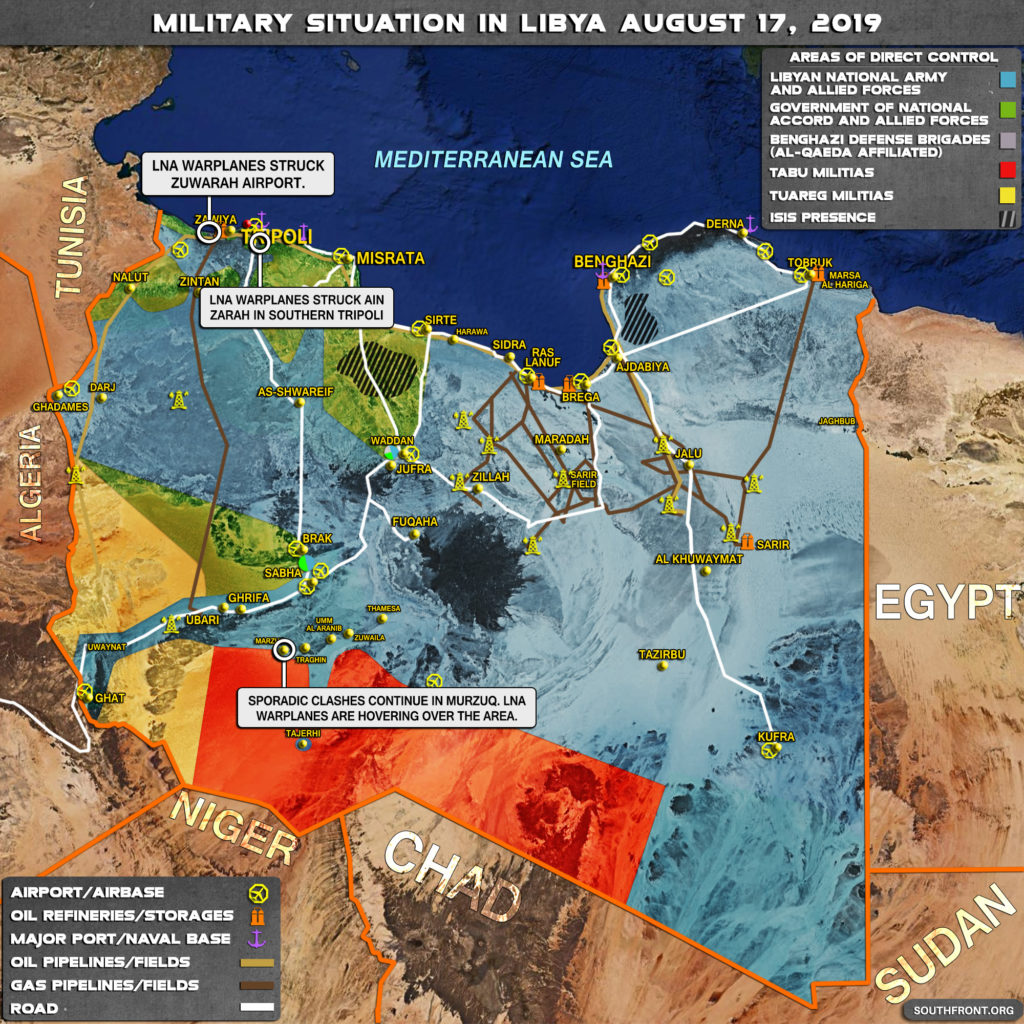 Military Situation In Libya On August 17, 2019 (Map Update)