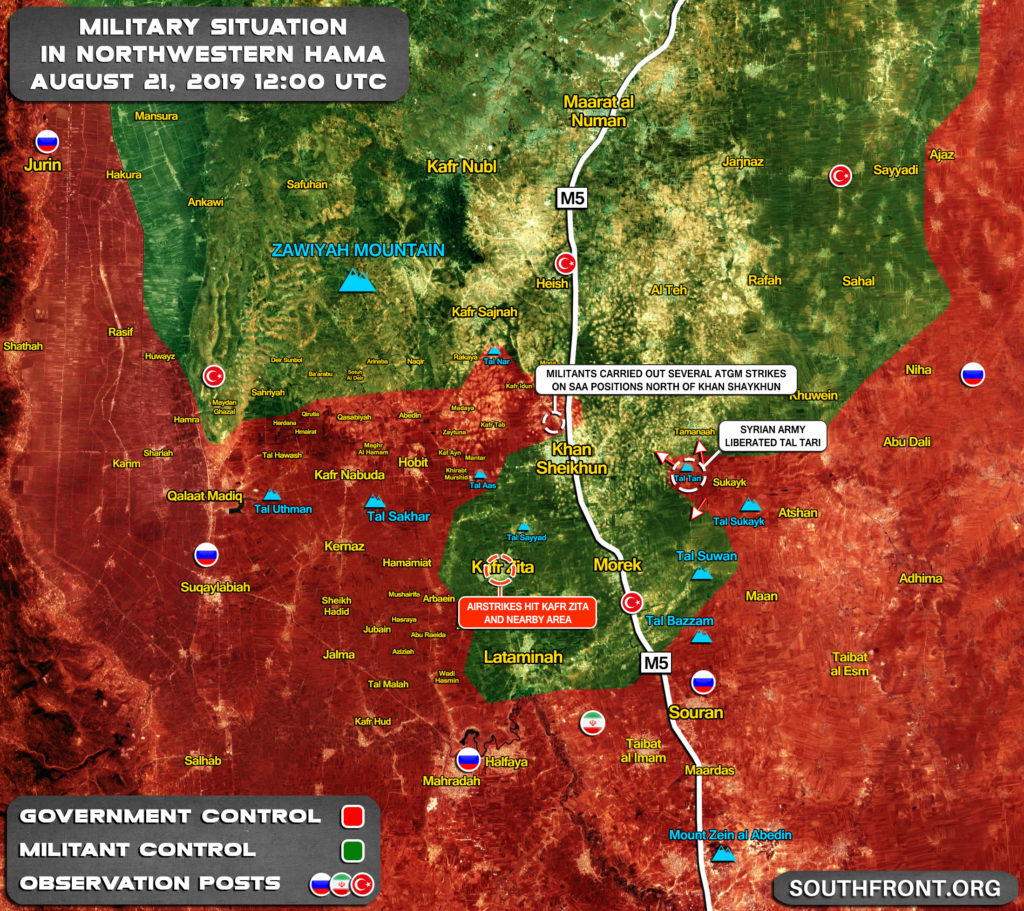 Map Update: Syrian Army Captures Another Hill Top In Attempt To Finish Encirclement Of Northern Hama