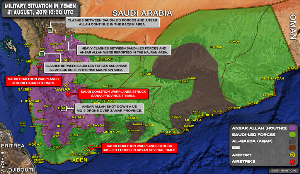Military Situation In Yemen On August 21, 2019 (Map Update)
