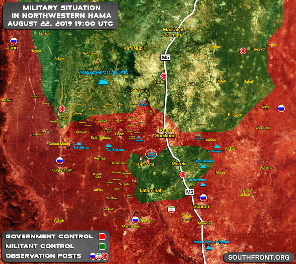 Map Update: Government Forces Advance On Kafr Zita Following Liberation Of Khan Shaykhun