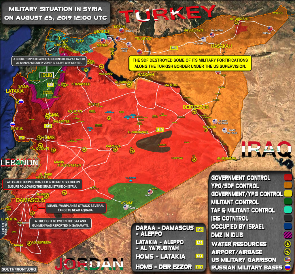 Military Situation In Syria On August 25, 2019 (Map Update)