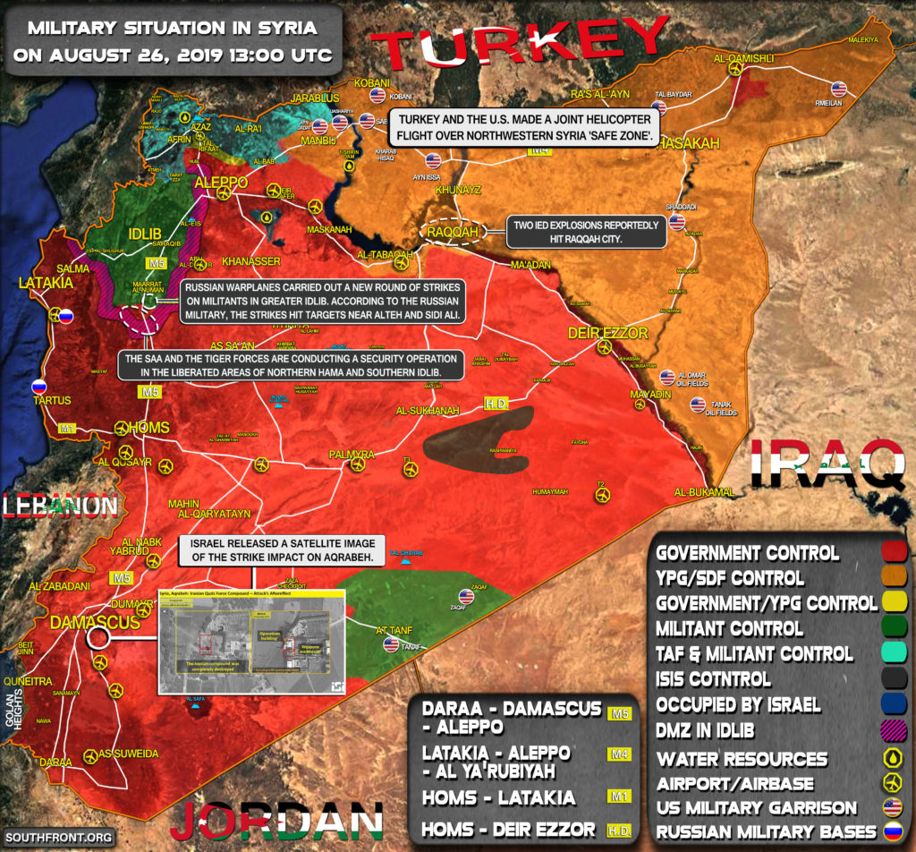 Military Situation In Syria On August 26, 2019 (Map Update)