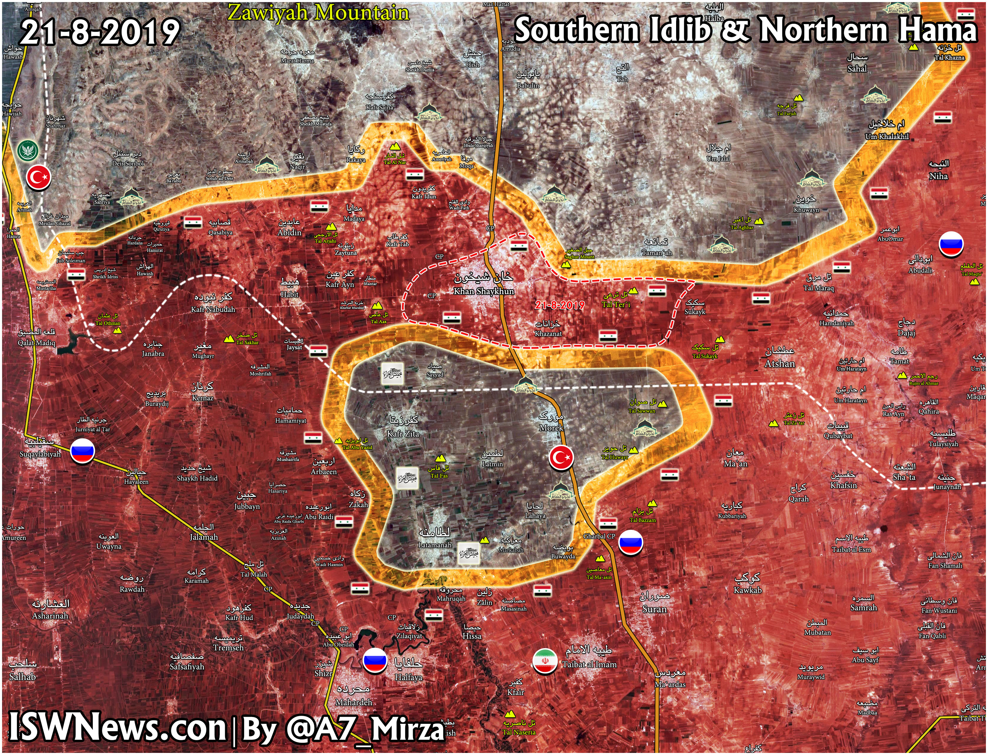 Sýrska Armáda Besieges Zostávajúce Militantov Pozície, Turecké Pozorovacie V Severnom Hama