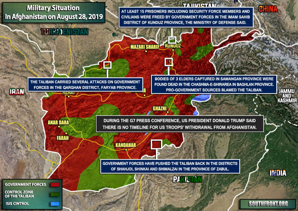 Military Situation In Afghanistan On August 28, 2019 (Map Update)