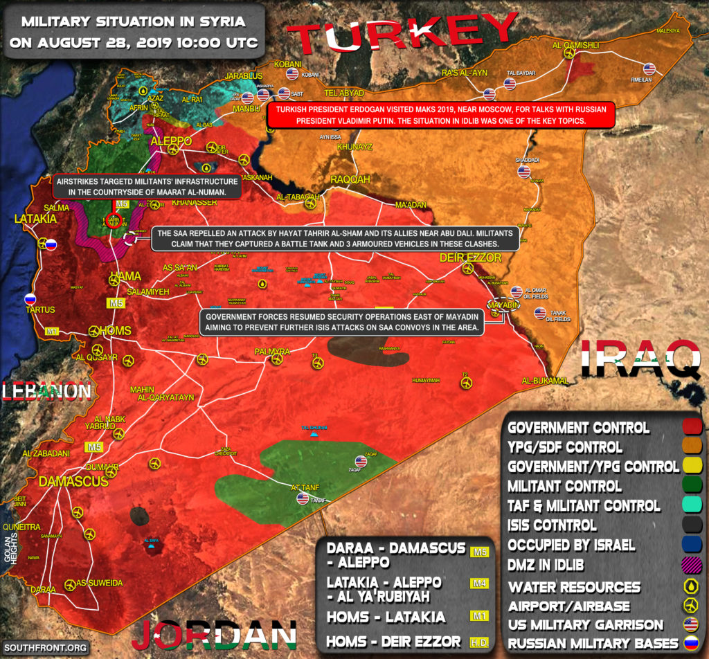 Military Situation In Syria On August 28, 2019 (Map Update)