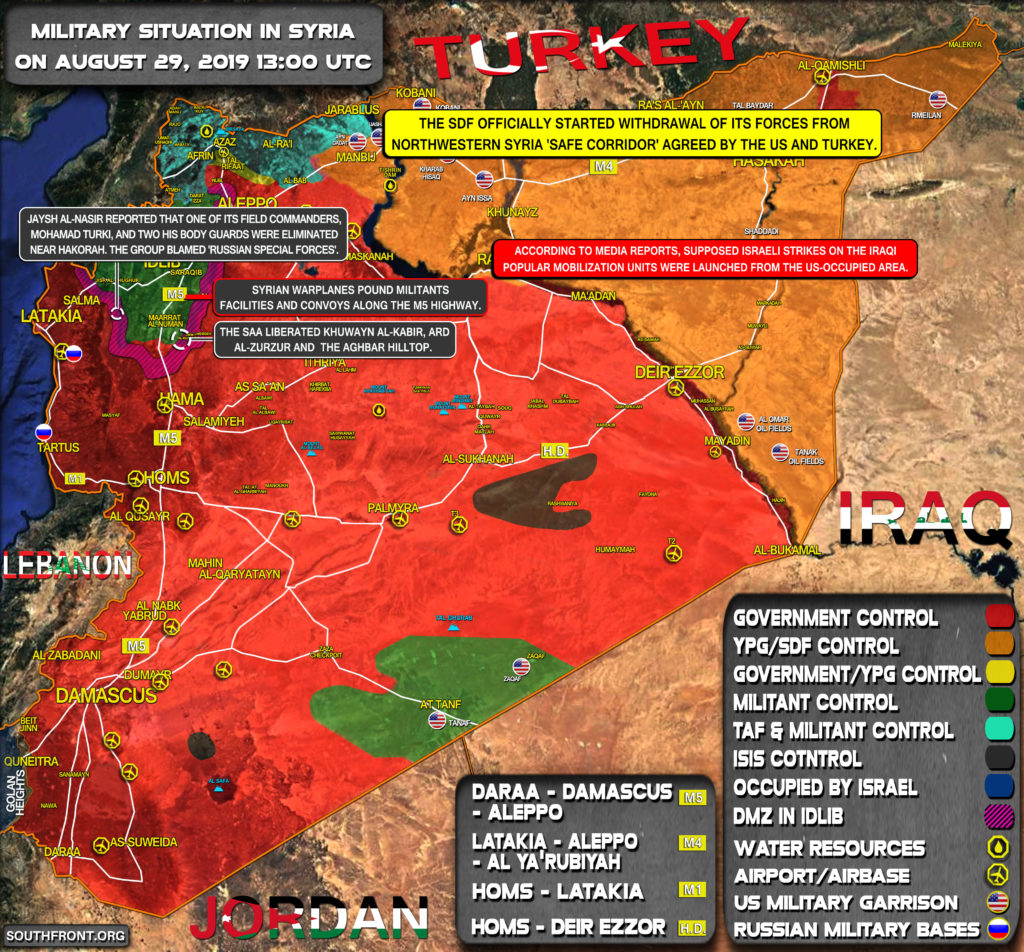Military Situation In Syria On August 29, 2019 (Map Update)