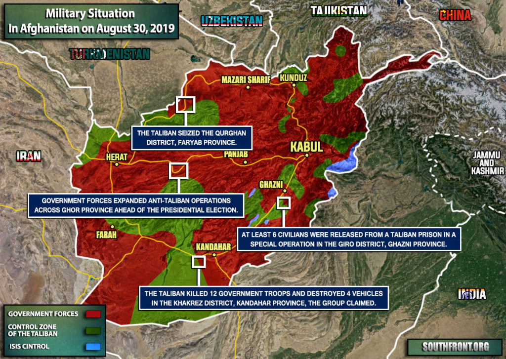 Military Situation In Afghanistan On August 30, 2019 (Map Update)