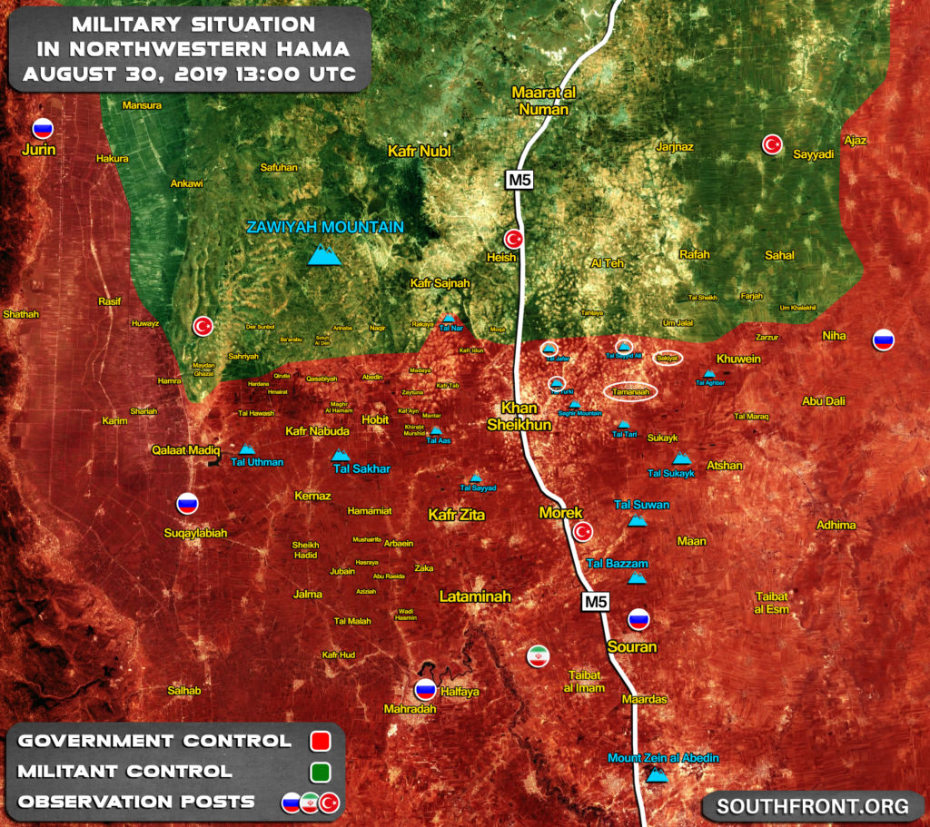 Map Update: Syrian Army's Gains In Southern Idlib Following Liberation Of Khan Shaykhun