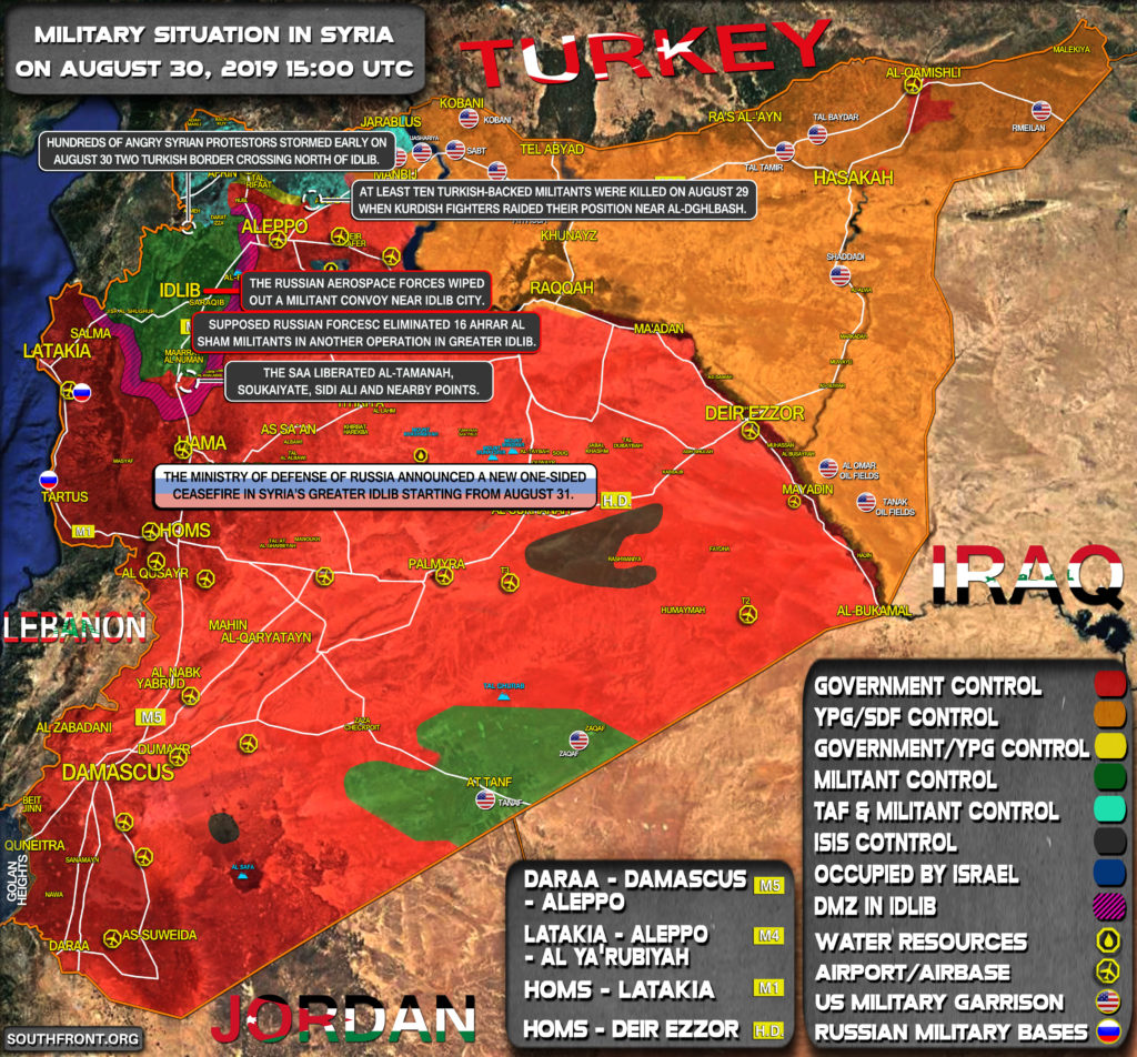 Military Situation In Syria On August 30, 2019 (Map Update)