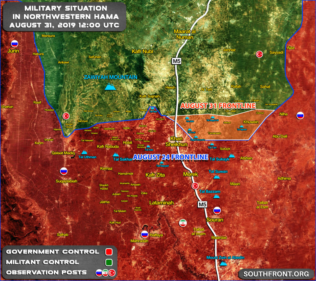 Map Update: Military Situation In Northwestern Syria After Introduction Of Another Ceasefire