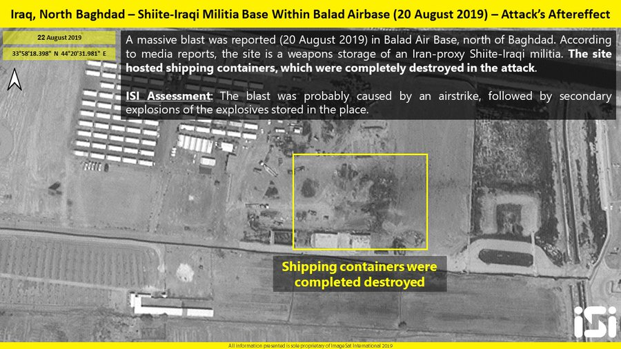 Satellite Images: Series Of Mysterious Explosions At Facilities Of 'Iranian-backed' Forces In Iraq