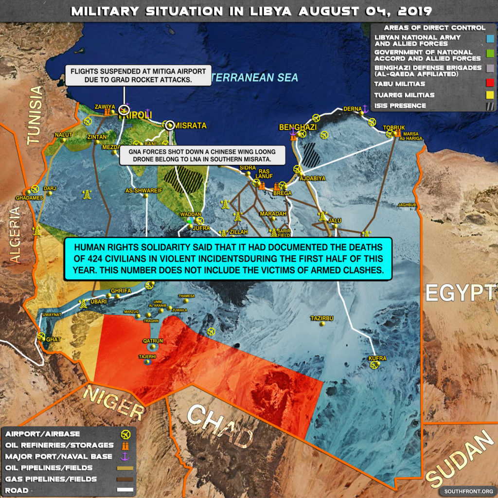 Military Situation In Libya On August 4, 2019 (Map Update)