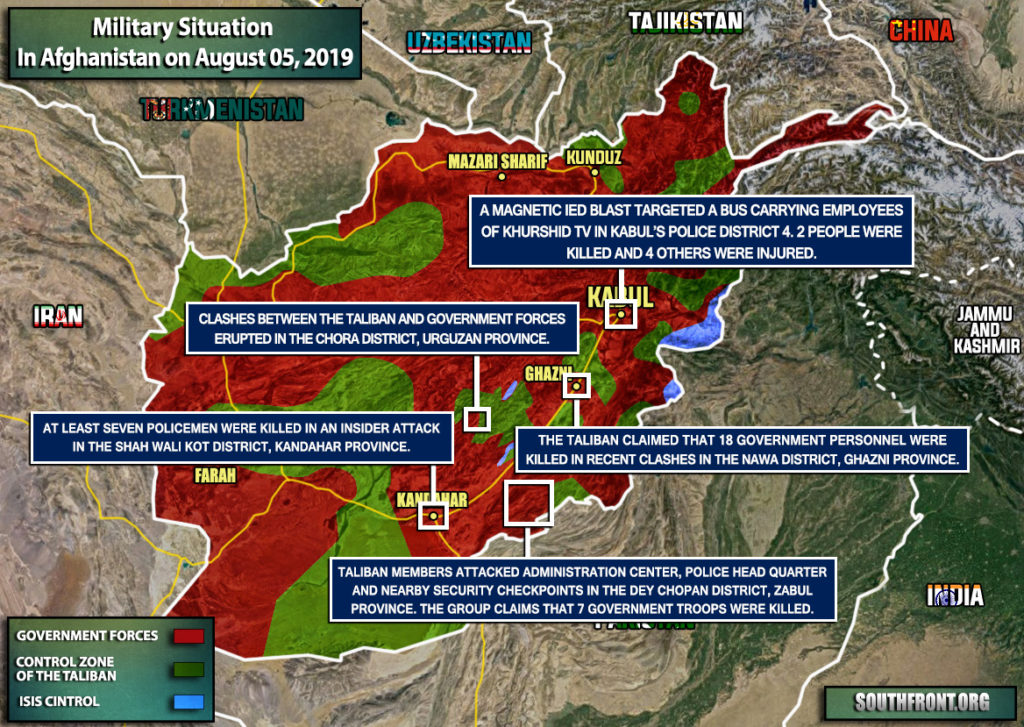 Military Situation In Afghanistan On August 5, 2019 (Map Update)