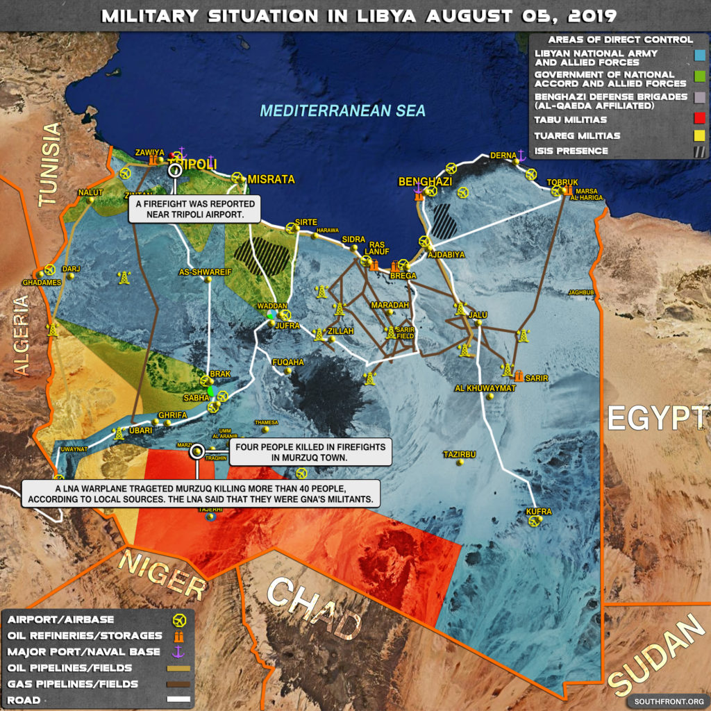 Military Situation In Libya On August 5, 2019 (Map Update)