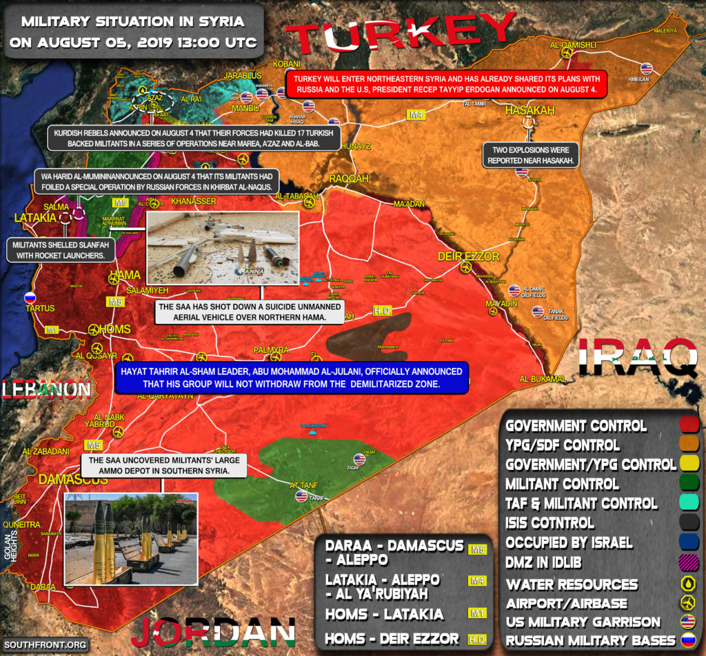 Military Situation In Syria On August 5, 2019 (Map Update)