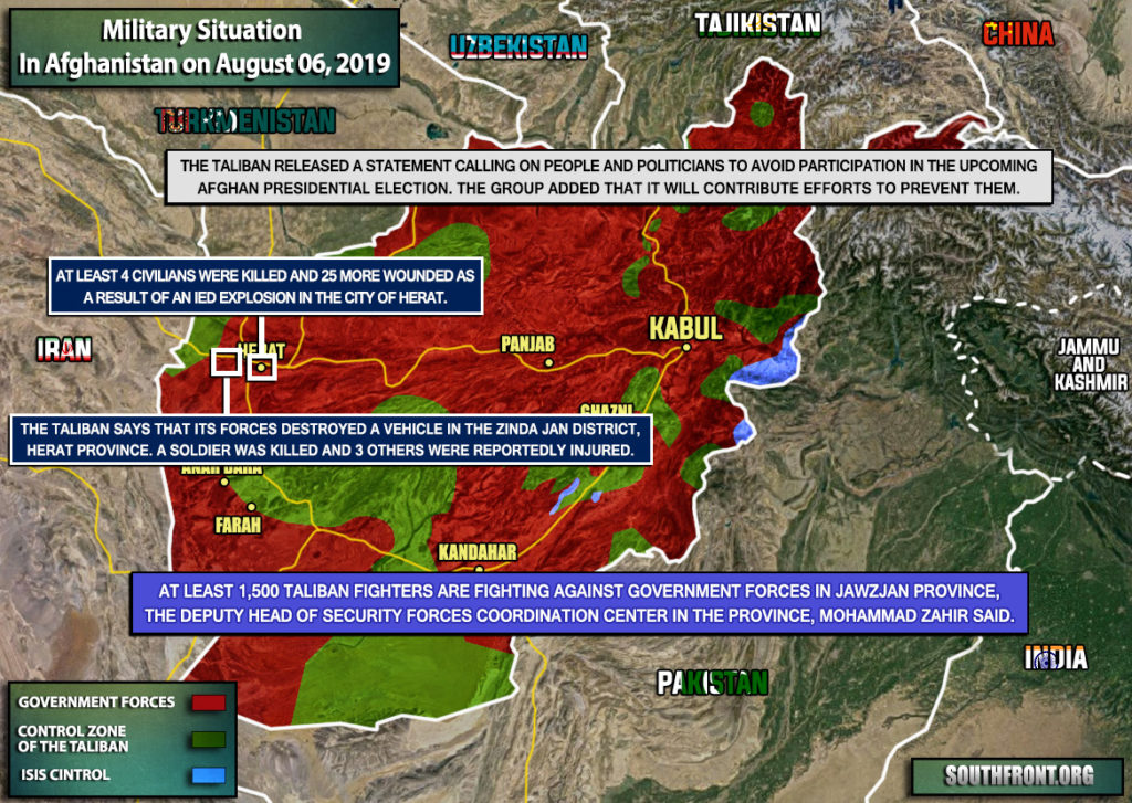 Military Situation In Afghanistan On August 6, 2019 (Map Update)