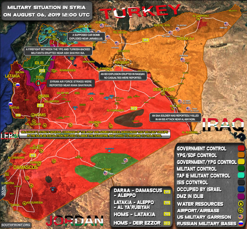 Military Situation In Syria On August 6, 2019 (Map Update)