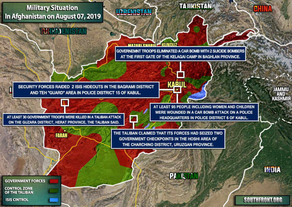 Military Situation In Afghanistan On August 7, 2019 (Map Update)