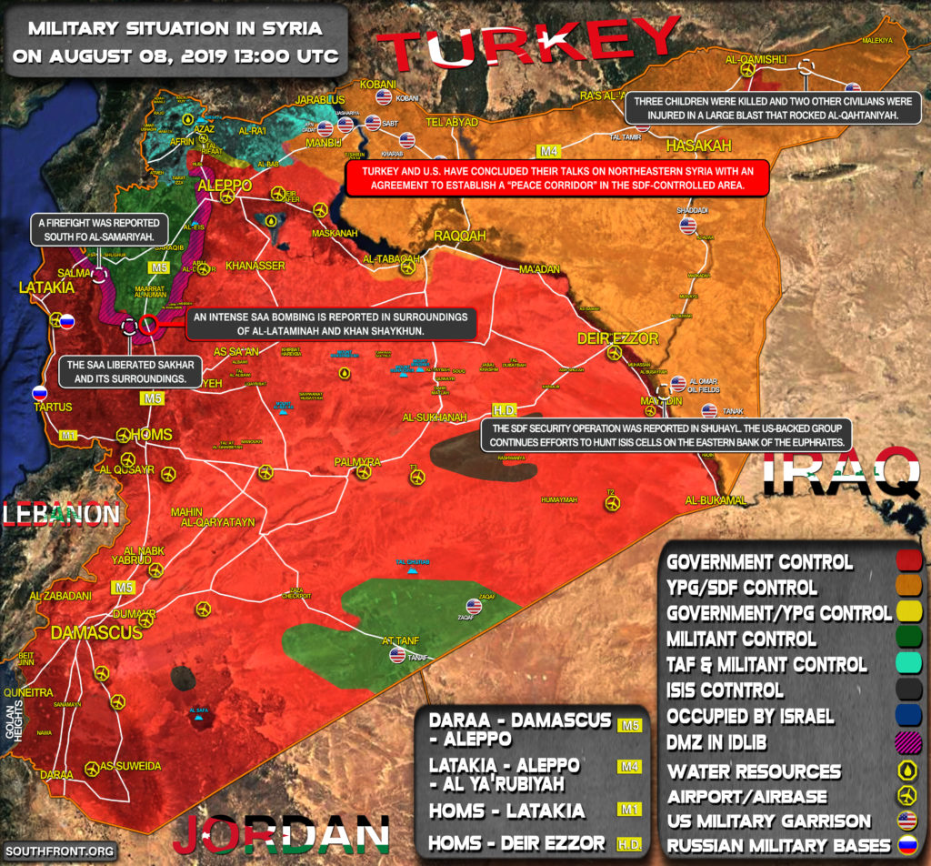 Military Situation In Syria On August 8, 2019 (Map Update)
