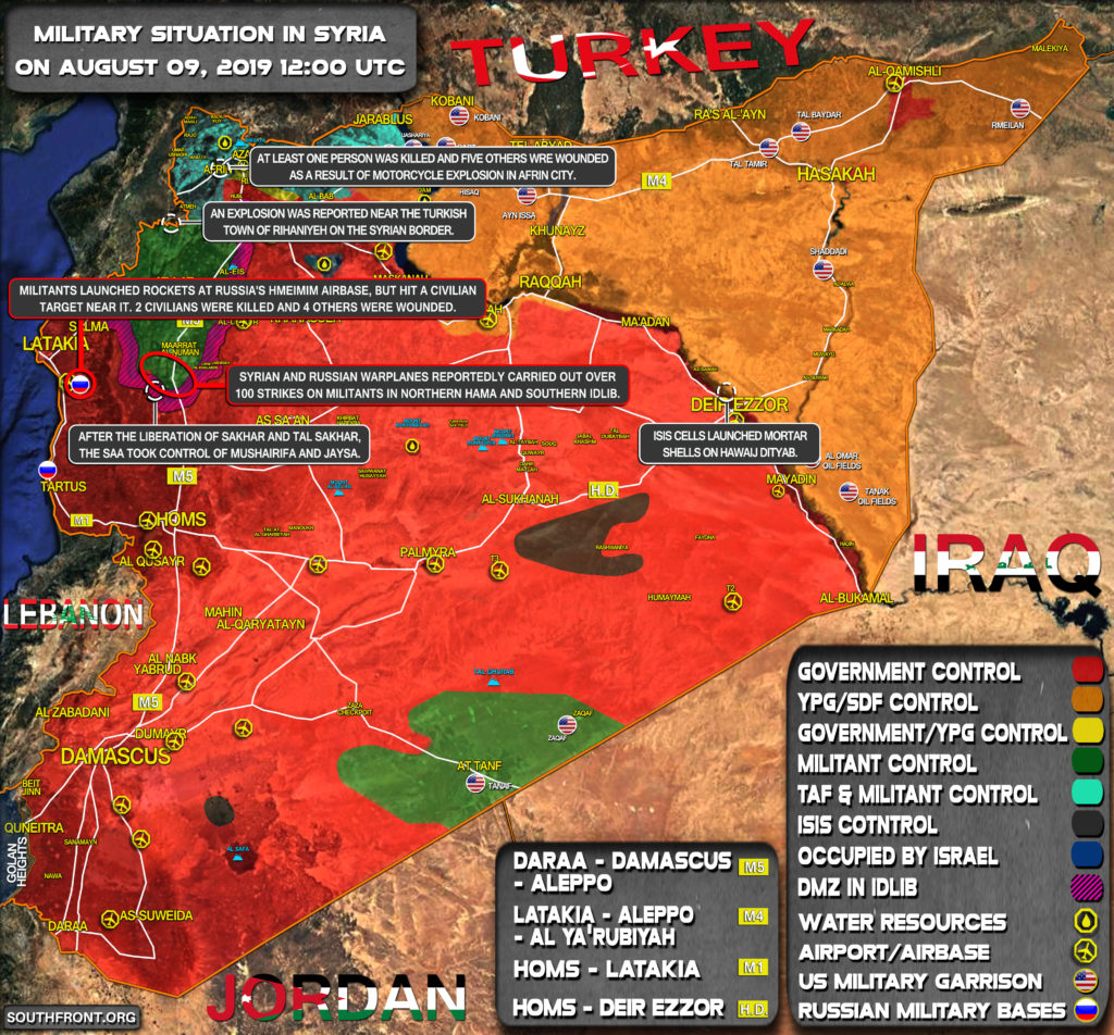 Military Situation In Syria On August 9, 2019 (Map Update)
