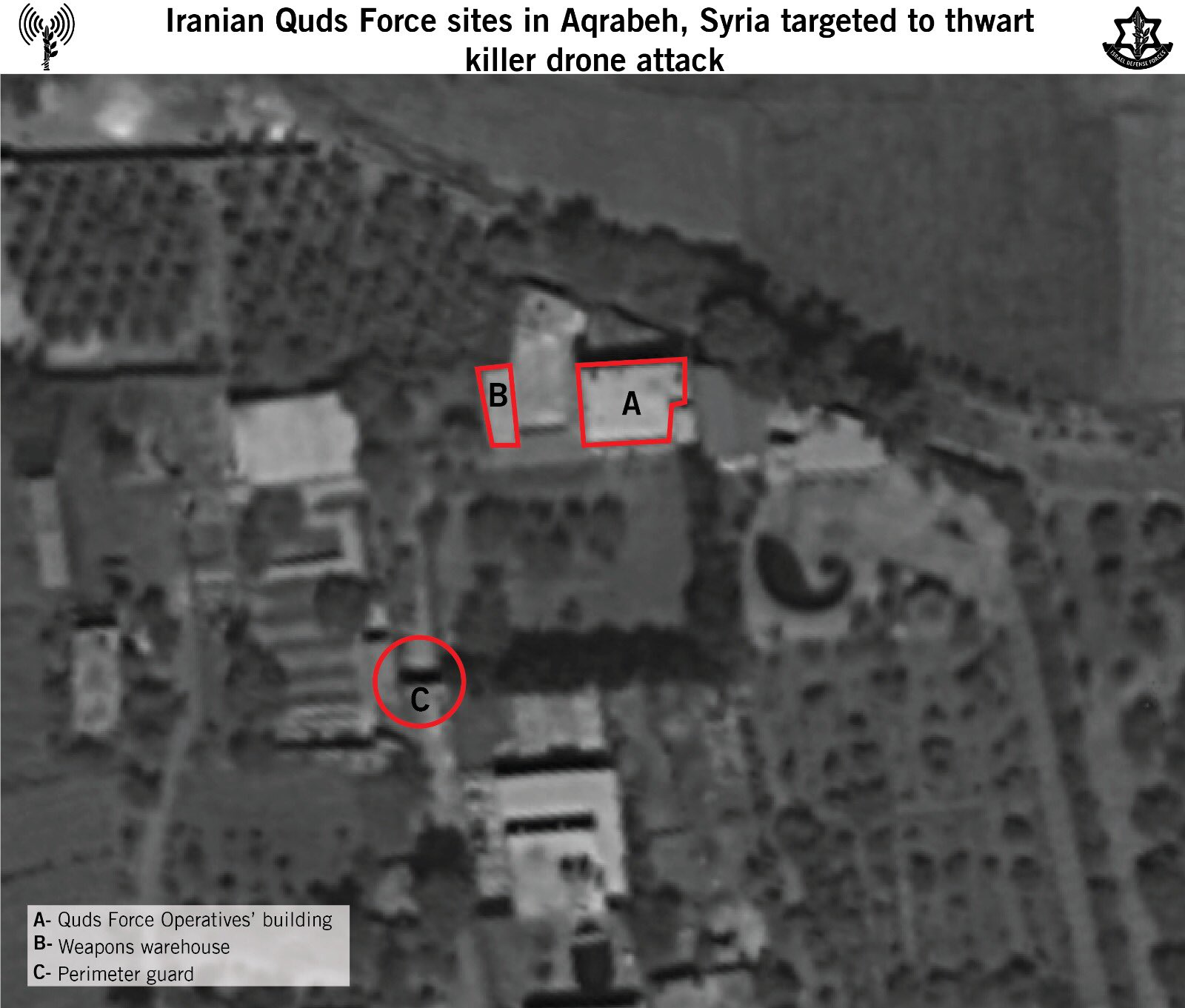 IDF Claims Qods Force Planned Drone Attack On Israel, Releases Satellite Image Of Targeted Positions