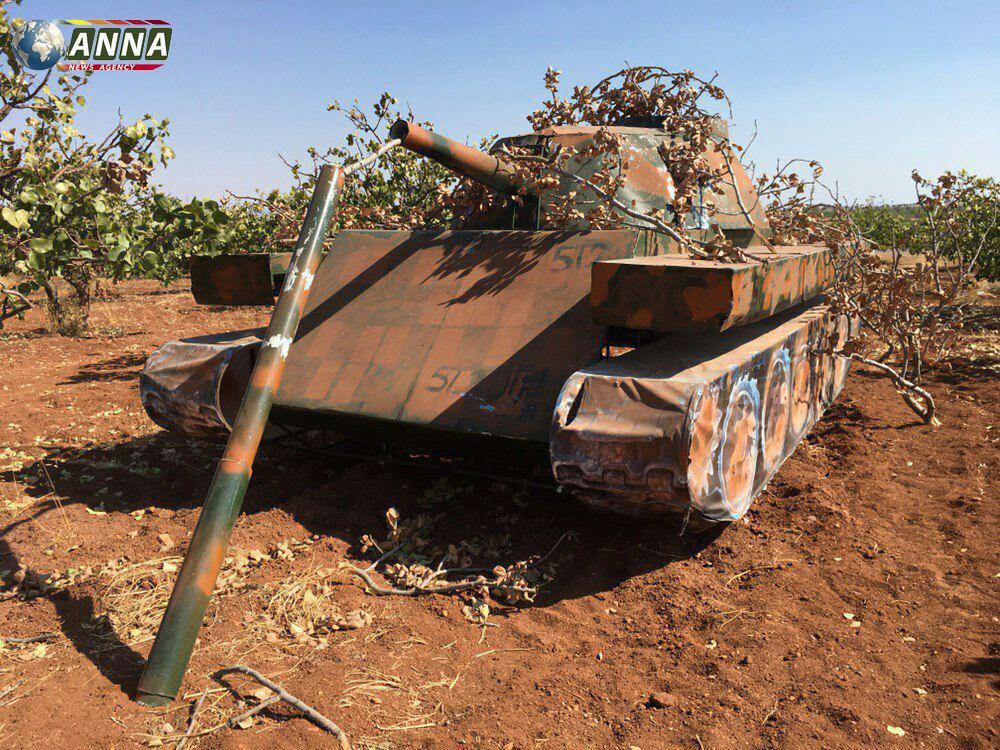 過激派は戦車デコイを使用してシリアのロシア軍機をplaneします(写真)