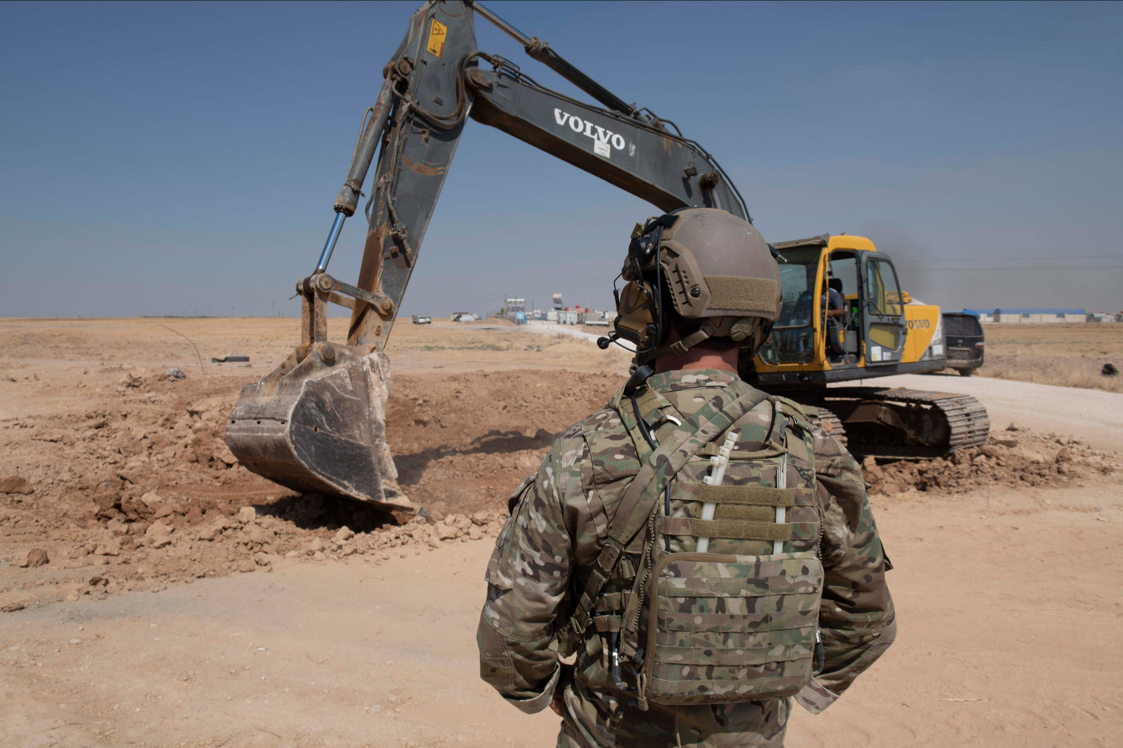 SDF Destroys Its Own Fortifications Along Border With Turkey Under U.S. Supervision (Photos)