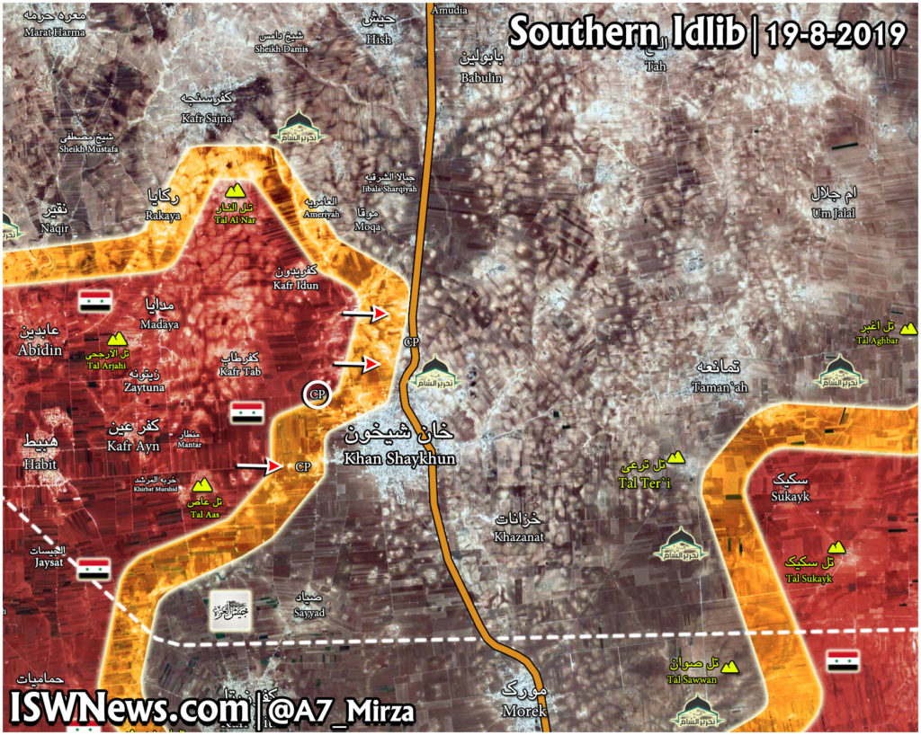Map Update: Syrian Army Moves Closer To Khan Shaykhun