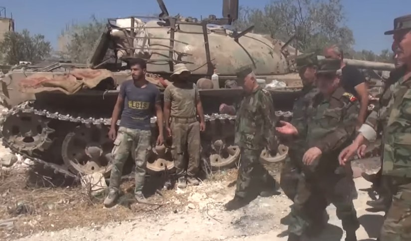 Syrian Defense Minister Visited Liberated Town Of Al-Habit In Southern Idlib (Video)