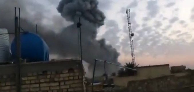 In Video: Blast Hits Weapnos Depot At 'Pro-Iranian Militia Base' In Baghdad