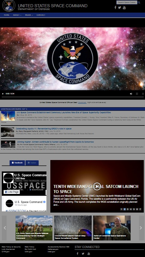 Trump Officially Establishes US Space Command, Accompanied By Awkward Website