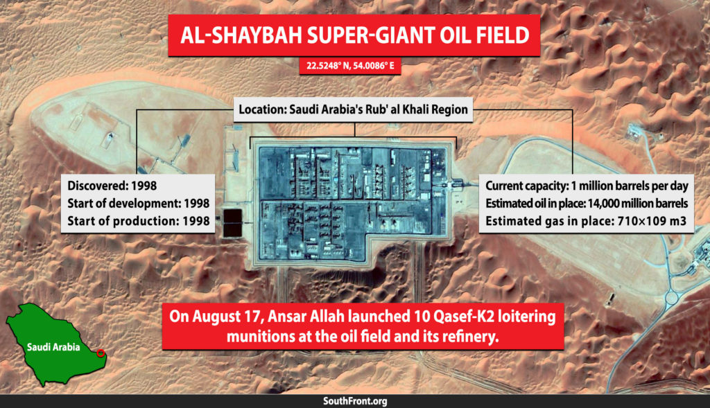 Al-Shaybah Super-Giant Oil Field Came Under Drone Strikes By Houthis (Infographics)