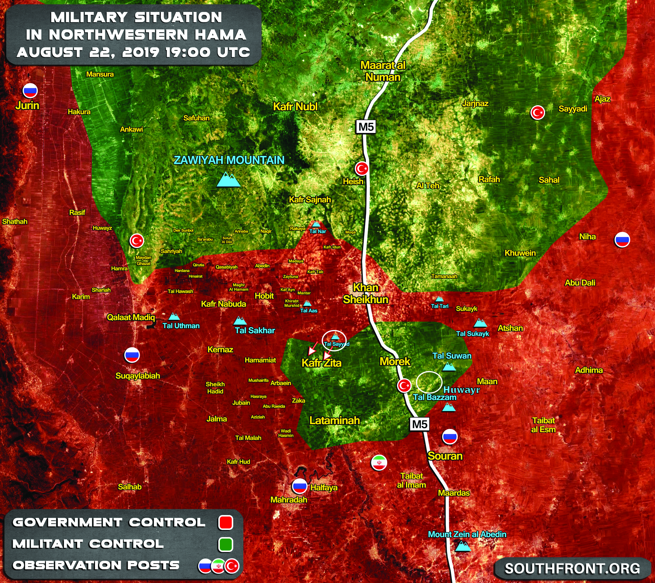 Syrian Army Captures Key Hills East Of Turkish Post In Northern Hama